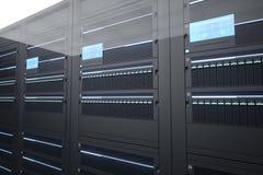 Server room. Rack server, workstation supercomputer, IT Stock Images