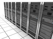 Server-room row Royalty Free Stock Images