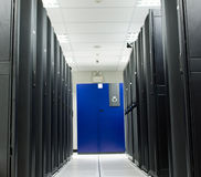 Server room store black rack Royalty Free Stock Photography