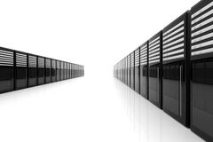 Server Room - Wide angle. 3D Illustration. Server Room - Wide angle stock illustration