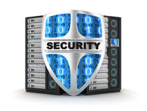 Server security. (done in 3d Royalty Free Stock Image