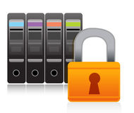 Server security illustration concept Royalty Free Stock Photo