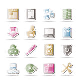 Server Side Computer icons Stock Image