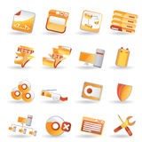 Server side icon set. Server side icons - vector icon set Royalty Free Stock Photo