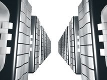 Server  With Silver metal. Servers for web design and stocks Stock Photography