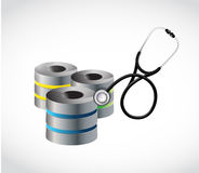 Server and stethoscope illustration design Stock Image