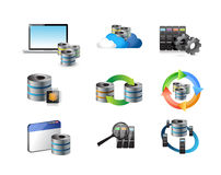 Server storage concept icon set Stock Photo