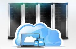 Server Tower Cloud-Computing Stock Image