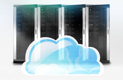 Server Tower Cloud-Computing Royalty Free Stock Photos