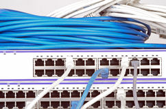 Server und Drähte Stockfotos