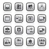 Server- und Netzikonen Lizenzfreie Stockbilder