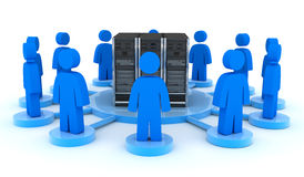 Server and users (front) Royalty Free Stock Image