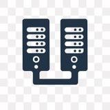 Server vectordiepictogram op transparante achtergrond, Server t wordt geïsoleerd royalty-vrije illustratie