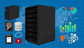 Server vectorillustratie Stock Fotografie