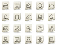 Server web icons, document series Stock Image