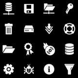 Server white web icons Royalty Free Stock Photo