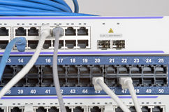 Server and wires Royalty Free Stock Images