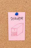 Server word and symbol Royalty Free Stock Image