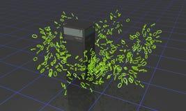 Serverdatabegrepp av bakgrund, 3d Royaltyfria Foton