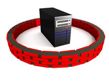 Serverfirewallsäkerhet Royaltyfri Fotografi