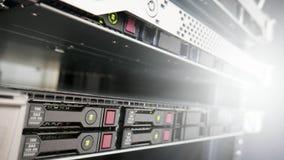 Servergestell im Kabinett Stockbilder