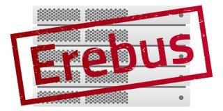 Servergestell Rote Mitteilung Erebus Virus Encryptor Lizenzfreies Stockfoto