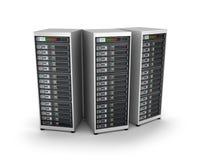 IT-Servergitter, über Weiß vektor abbildung