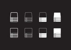Serverikonen stock abbildung