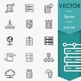 Serverikonenvektor vektor abbildung