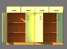 Serveringsbordmöblemang 3d framför stock illustrationer