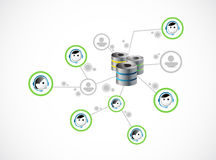 Serverleuteverbindungs-Netzillustration Lizenzfreie Stockfotografie