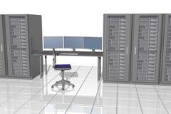 Servermonitoring illustrazione di stock