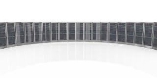 serveror för dator för nätverk 3d i datacenter Arkivfoton