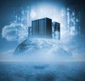 Serveror på jord Arkivbild