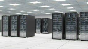 Serverraum Mittelaustauschcyberdaten- und -verbindungs3d Wiedergabe vektor abbildung