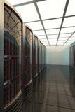 Serverraum, Telekommunikation, Datenschutz, 3d Lizenzfreie Stockbilder
