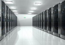 Serverrauminnenraum Lizenzfreies Stockbild