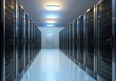 Serverrauminnenraum Lizenzfreie Stockfotografie