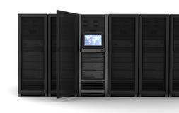 Serverreihe lizenzfreie abbildung