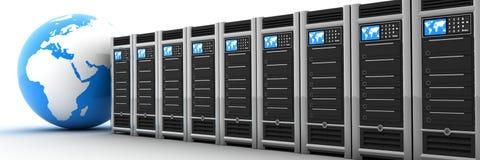 Serverreihe und -erde stock abbildung
