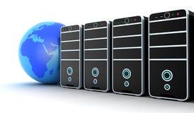 Serverreihe und -erde Lizenzfreies Stockfoto