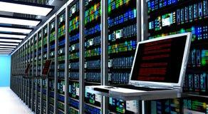 Serverruimte Stock Foto