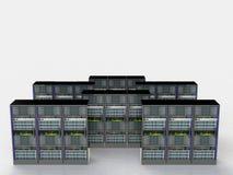 Serverrum i datacenter Royaltyfri Fotografi