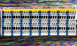 Serverrum och kontrollbräde Arkivbild