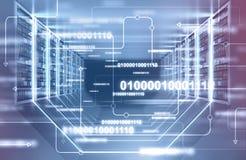 Serverruminre, linjer av koden vektor illustrationer