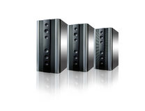 Servers. Abstract servers , communication technology , networking equipment Stock Images