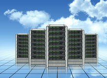 Servers. Communication technology, web hosting services Royalty Free Stock Images