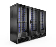 Servers. On white background - 3d render Royalty Free Stock Photo
