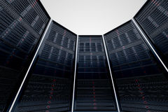 Servers circle. Royalty Free Stock Photo