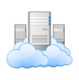 Servers and Clouds Royalty Free Stock Photography